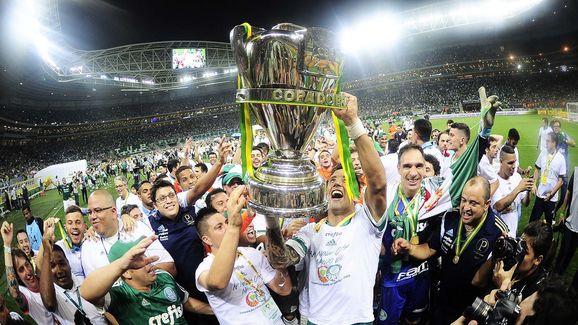Palmeiras celebrou a Copa do Brasil em 2015