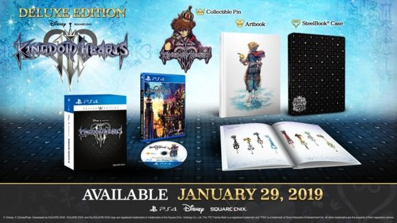 whats in kingdom hearts 3 deluxe edition