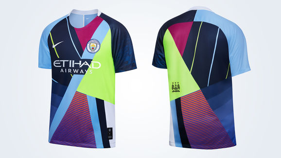 43b439c6ccd Man City Launch Unique  Mash-Up  Shirt to Celebrate 6-Year ...