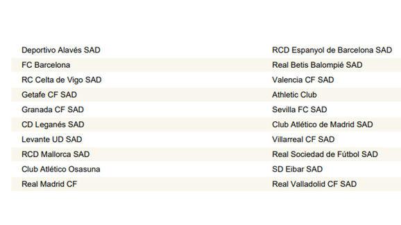 Calendario La Liga 2019.Oficial Asi Queda El Calendario De Laliga Para La Temporada 2019