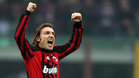 A.C. Milan's midfielder Andrea Pirlo cel