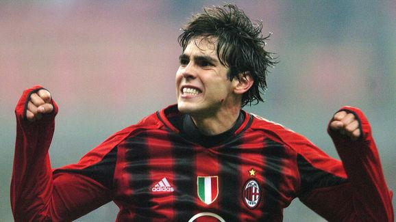 AC Milan's Brazilian midfielder Kaka cel