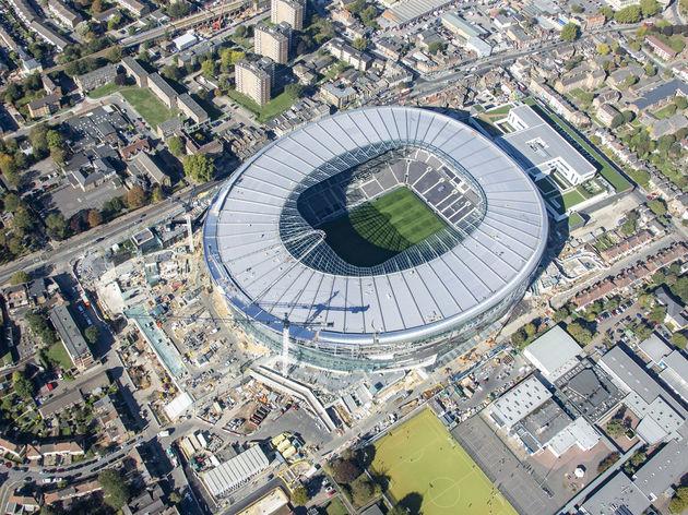 Aerial view of the New Home Stadium Of Tottenham Hotspur Football Club