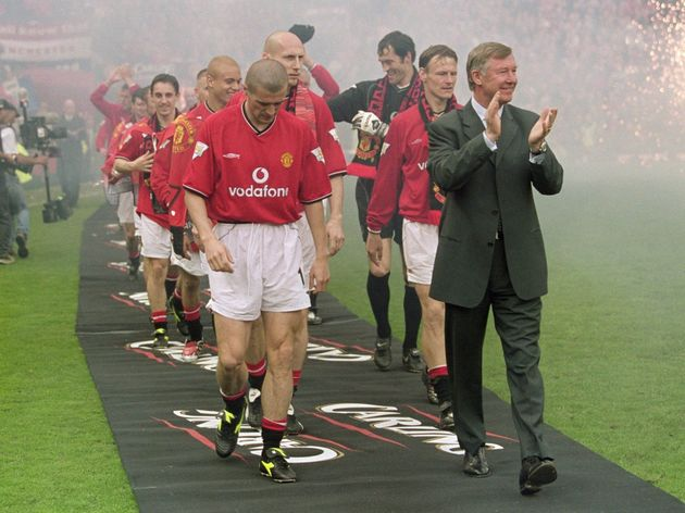 Alex Ferguson and Roy Keane