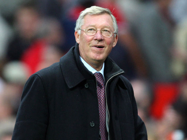 Alex Ferguson, manager of Manchester Uni