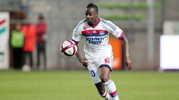 Lyon's French defender Aly Cissokho is s