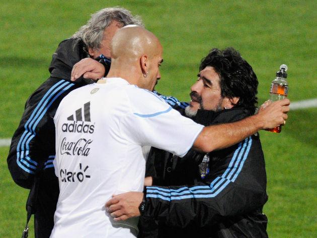 Diego Maradona,Juan Sebastian Veron