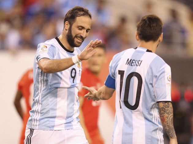 Gonzalo Higuain,Lionel Messi
