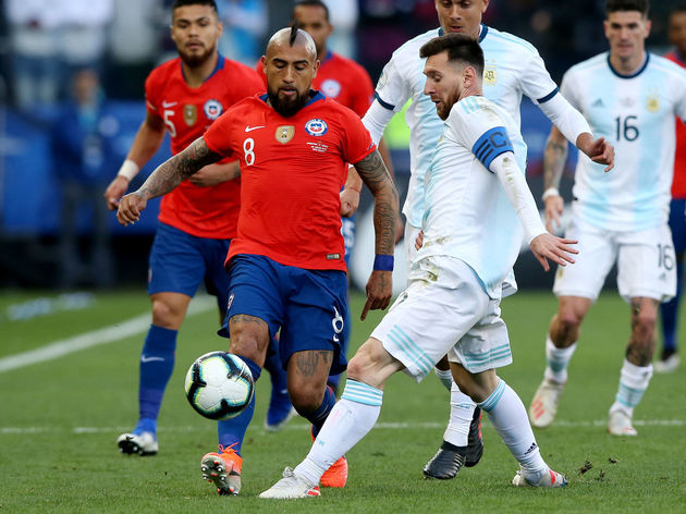 Lionel Messi,Arturo Vidal