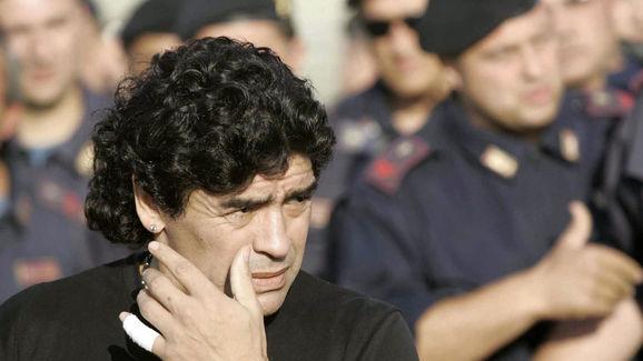 Argentinian soccer legend Diego Armando