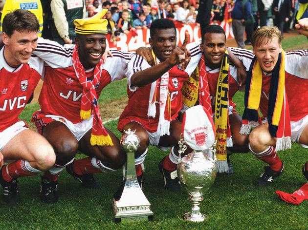 Andy Linighan,Kevin Campbell,Paul Davis,Lee Dixon,David Rocastle