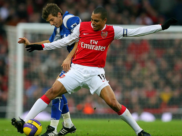 Arsenal's Brazilian midfielder Gilberto
