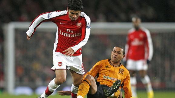 Arsenal's Croatian striker Eduardo da Si