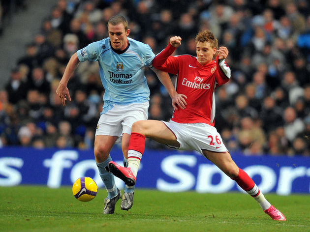 Arsenal's Danish forward Nicklas Bendtne