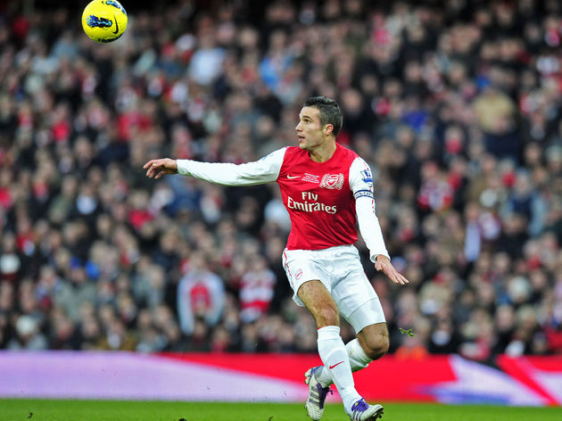 Arsenal's Dutch striker Robin Van Persie