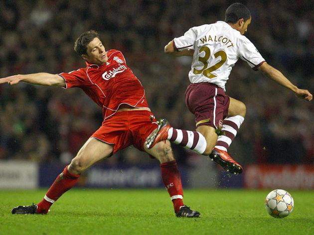Arsenal's English forward Theo Walcott (