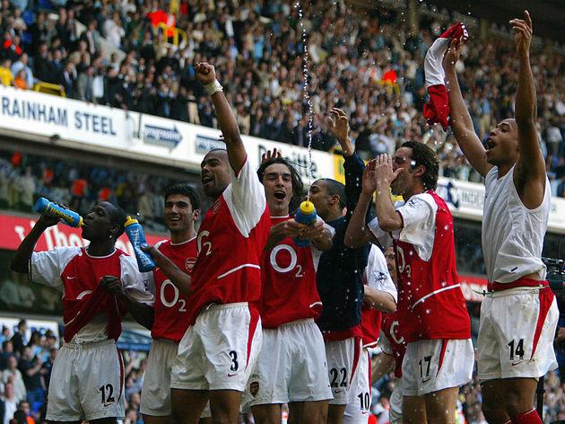 Arsenal's L to R Lauren , Jose Antonio R