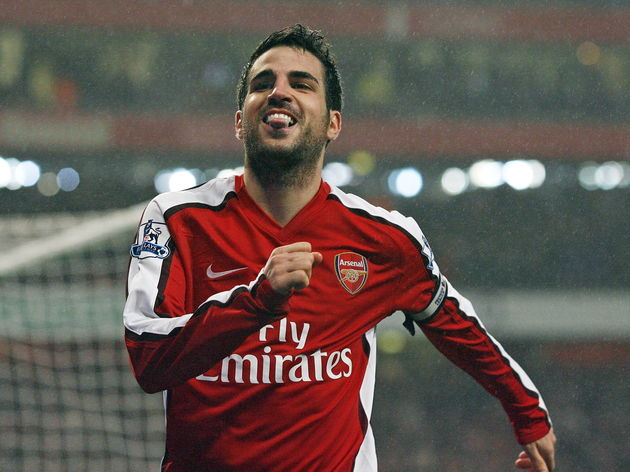 Arsenal's Spanish midfielder Cesc Fabreg