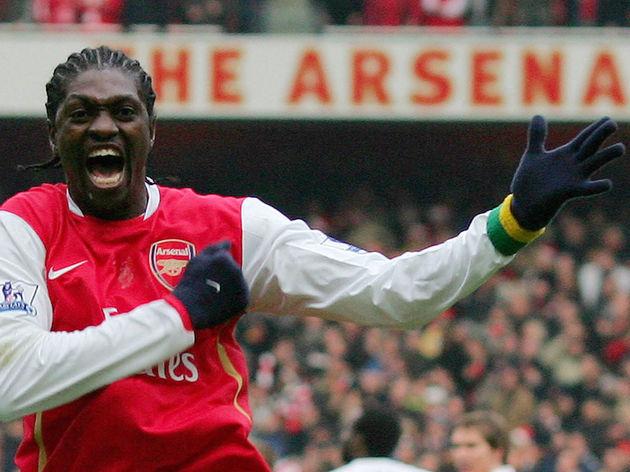 Arsenal's Togo Striker Emmanuel Adebayor