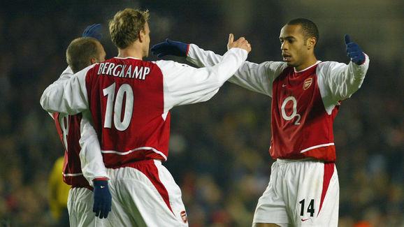 Thierry Henry,Fredrik Ljungberg,Dennis Bergkamp