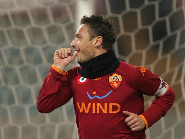 AS Roma's forward and captain Francesco