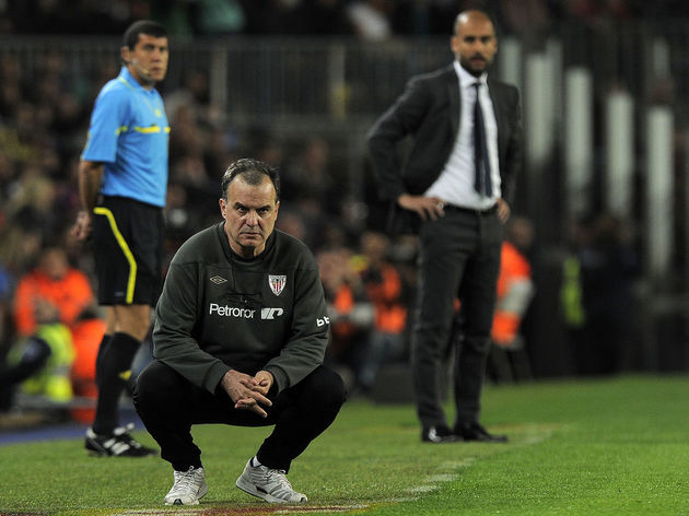 Athletic Bilbao's coach Marcelo Bielsa (