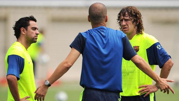 Barcelona FC head coach Josep Guardiola