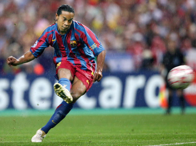 Barcelona's Brazilian forward Ronaldinho