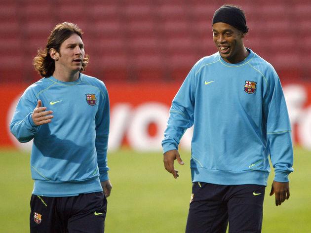 Barcelona's Brazilian midfielder Ronaldi