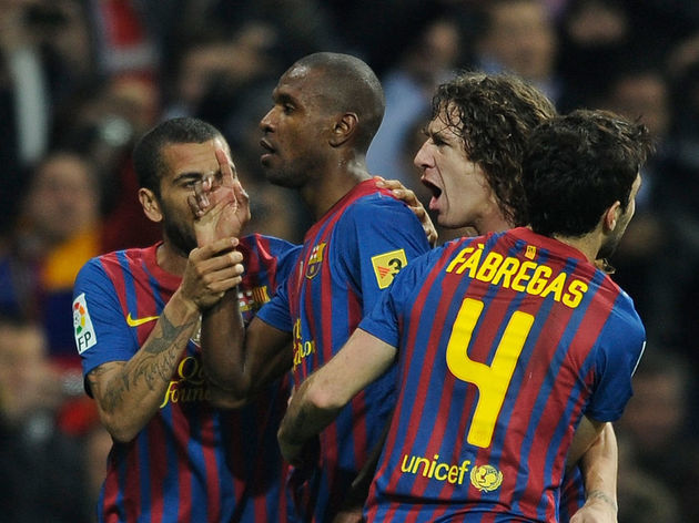 Barcelona's French defender Eric Abidal
