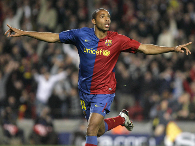Barcelona's French forward Thierry Henry
