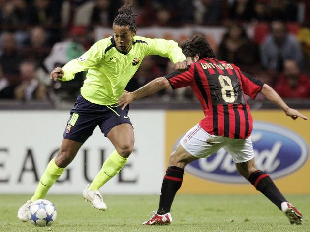 Barcelona's midfielder Ronaldinho of Bra