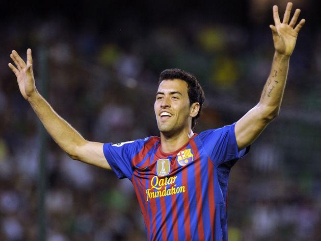 Barcelona's midfielder Sergio Busquets c