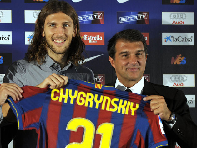Barcelona's new player Ukrainian Dmytro