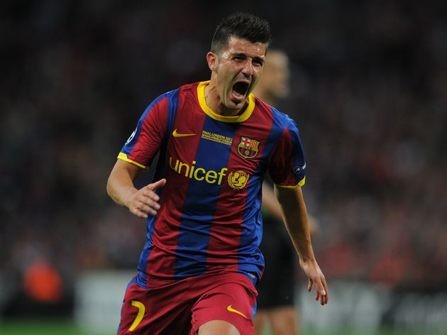 Barcelona's Spanish forward David Villa