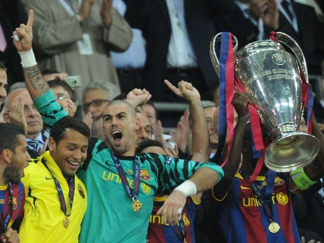 Barcelona's Spanish goalkeeper Victor Va