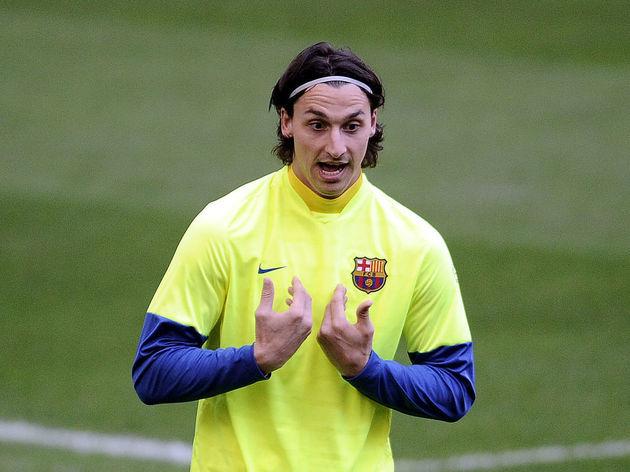 Barcelona's Swedish forward Zlatan Ibrah