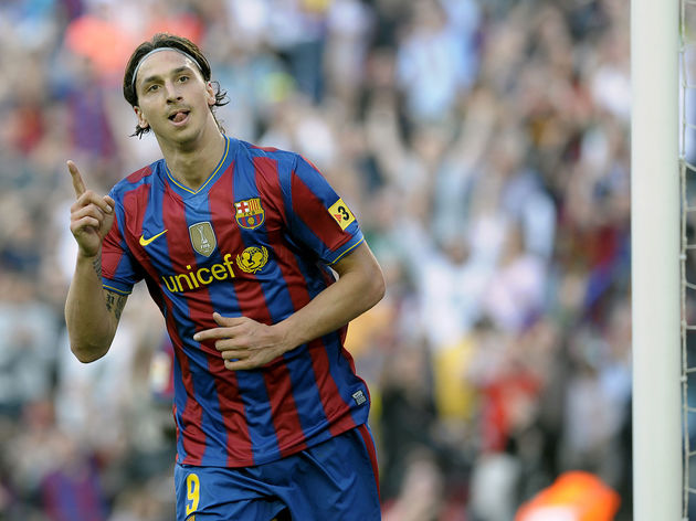 Barcelona's Swedish forward Zlatan Ibrah