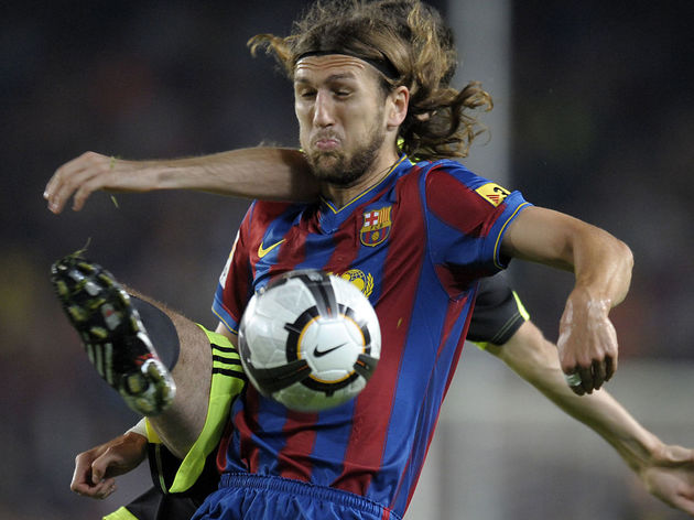 Barcelona's Ukrainian defender Dmytro Ch