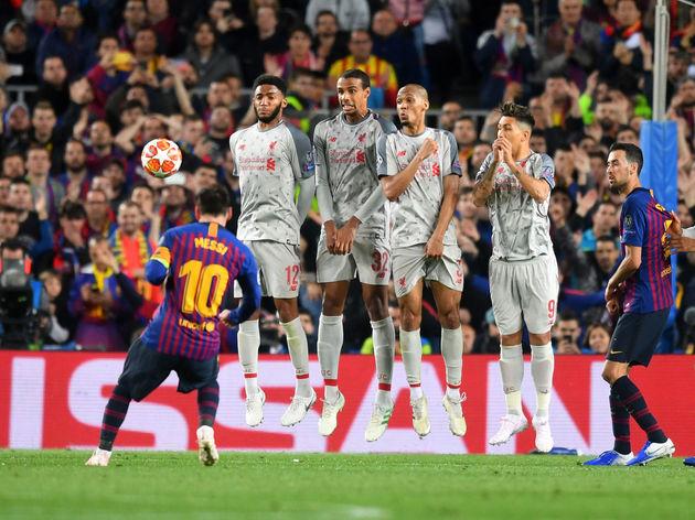 Lionel Messi,Joe Gomez,Joel Matip,Fabinho,Roberto Firmino