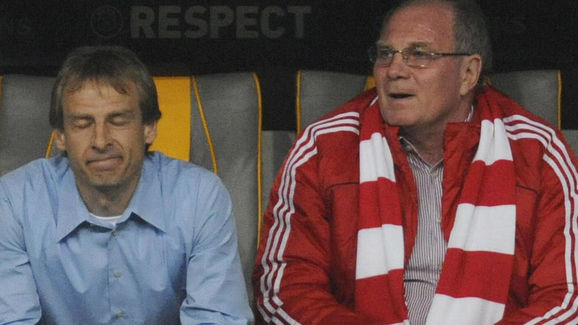 Bayern Munich's coach Juergen Klinsmann