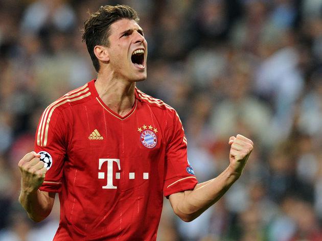 Bayern Munich's striker Mario Gomez cele