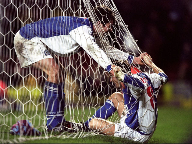 Blackburn v Villa Kevin Gallacher and Chris Sutton