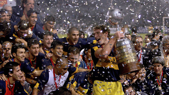 Boca Juniors team captain Martin Palermo...