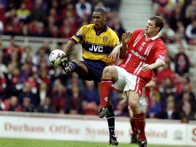 Boro v Arsenal Nicolas Anelka