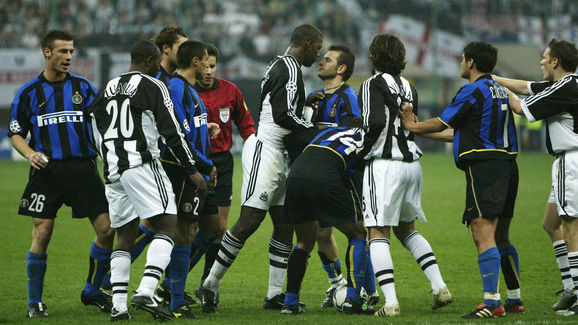 Bramble argues with Inter players
