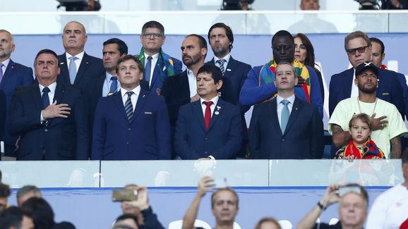 Jair Bolsonaro,Alejandro Dominguez,Rogério Caboclo,Neymar Jr.,Agustín Lozano