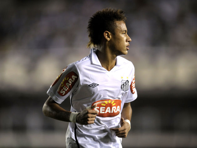 Brazilian football star Neymar, of Santo