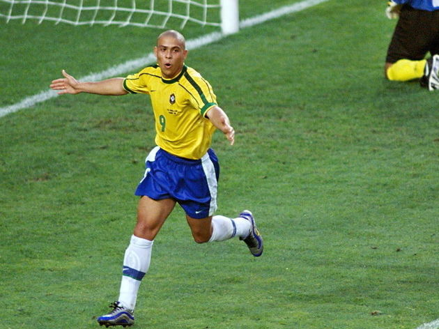 Brazilian forward Ronaldo jubilates as C
