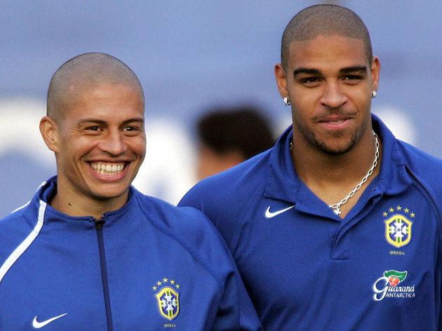 Brazilians footballers Adriano Ribeiro (